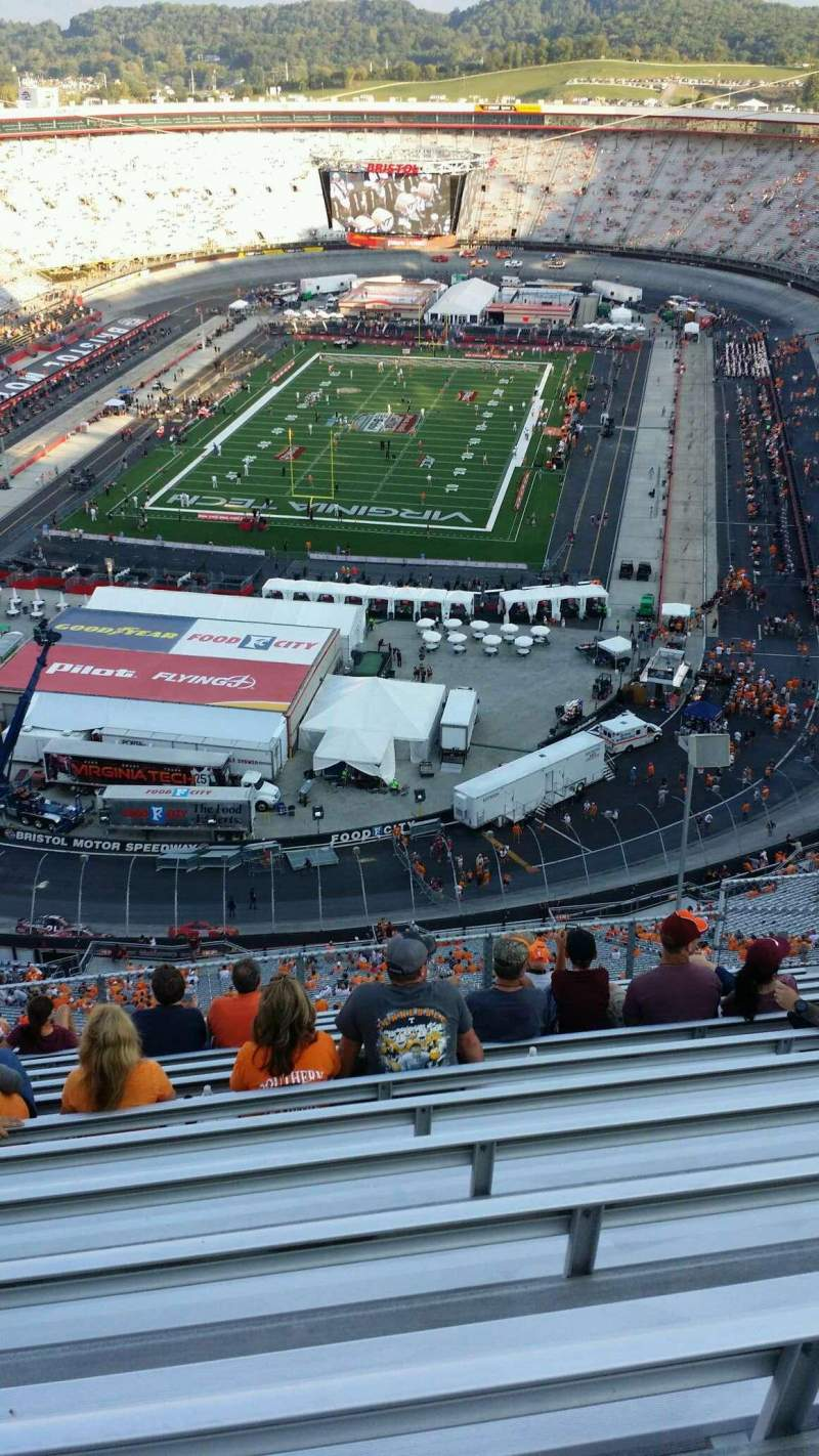 Seating view for Bristol Motor Speedway Section WO-F Row 13 Seat 9
