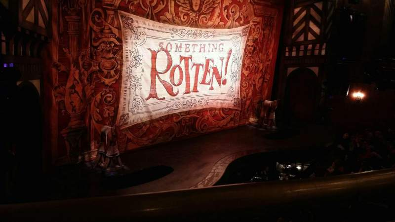 Seating view for St. James Theatre Section mezzanine l Row A Seat 17