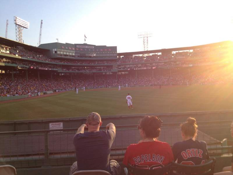 Seating view for Fenway Park Section Bleacher 42 Row 04 Seat 21