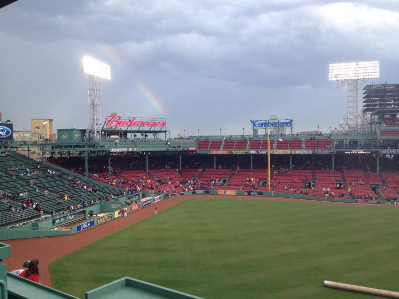 Seating view for Fenway Park Section Green Monster SRO