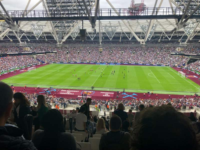 Seating view for London Stadium Section 209 Row 66 Seat 394