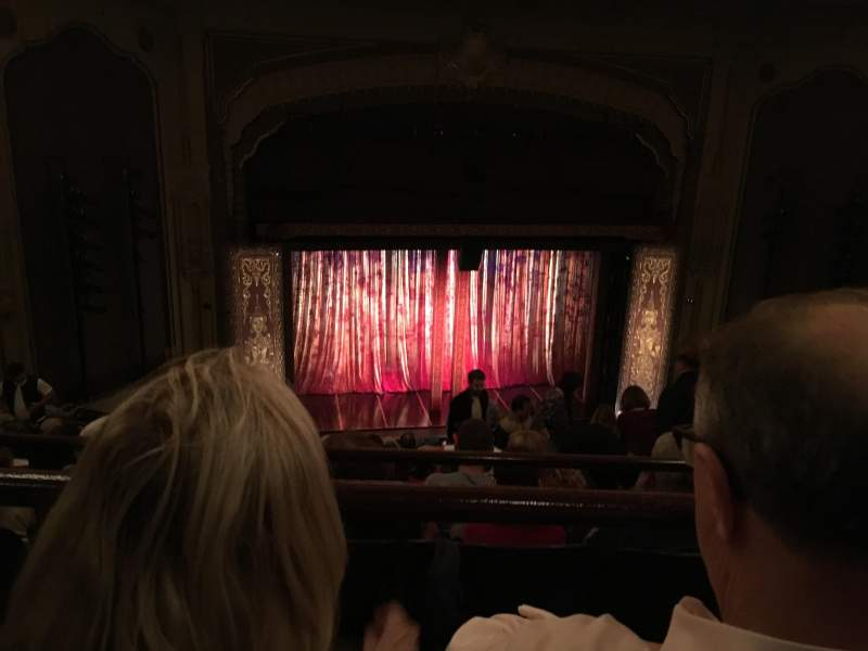 Seating view for Golden Gate Theatre Section Balcony Row B Seat 123