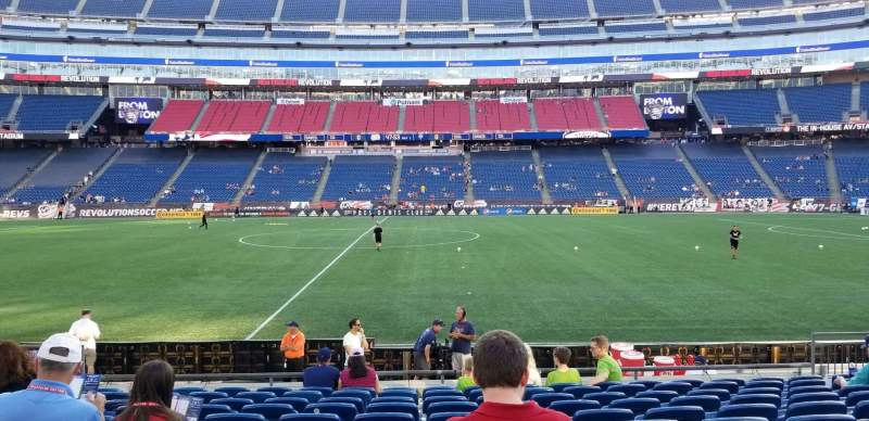 Seating view for Gillette Stadium Section 109 Row 11 Seat 12