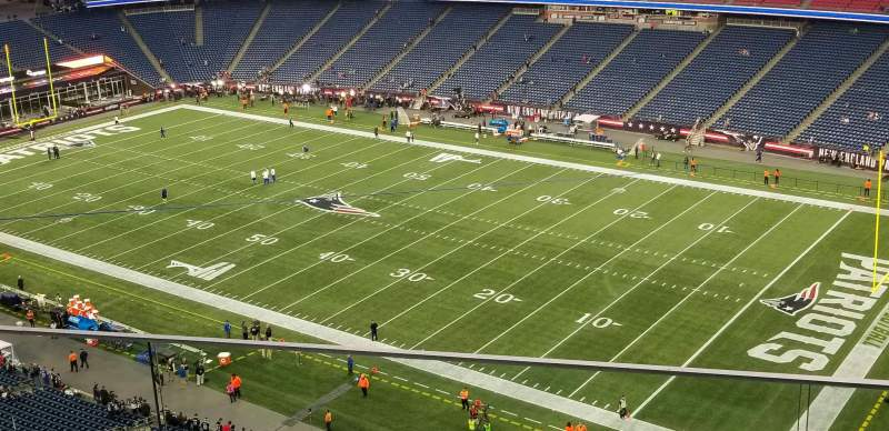 Seating view for Gillette Stadium Section 304 Row 3 Seat 7