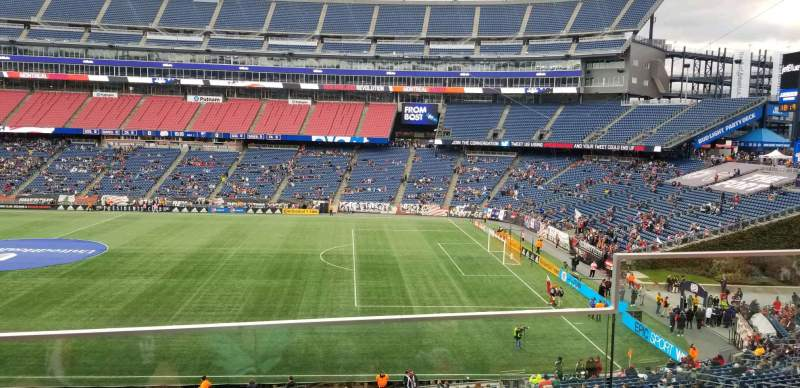Seating view for Gillette Stadium Section CL7 Row 2 Seat 2