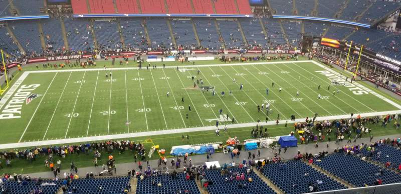 Seating view for Gillette Stadium Section 333 Row 7 Seat 11
