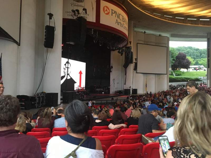 Seating view for PNC Bank Arts Center Section 104 Row Y Seat 53