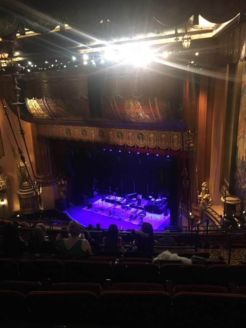 Seating view for Beacon Theatre Section Upper Balcony 4 Row L Seat 52