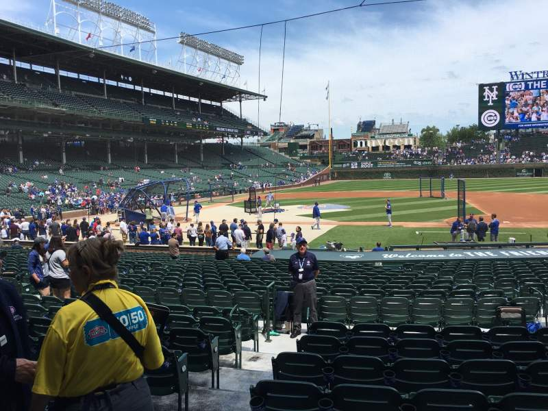 Seating view for Wrigley Field Section 124 Row 8 Seat 1