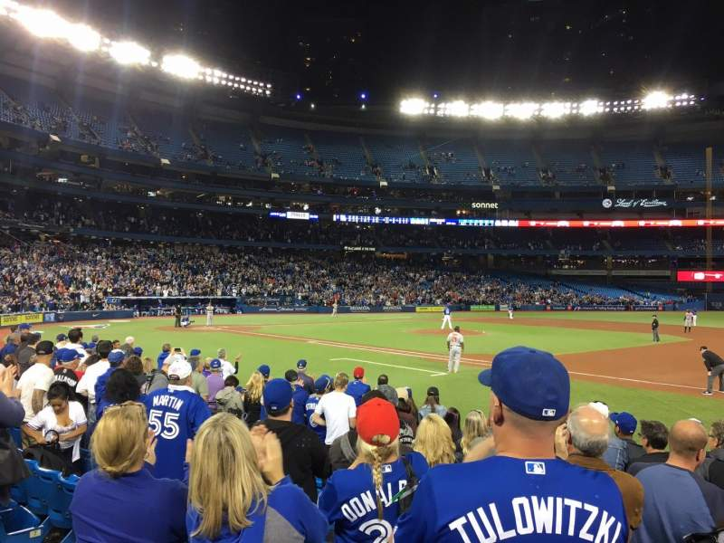 Seating view for Rogers Centre Section 115L Row 10 Seat 9