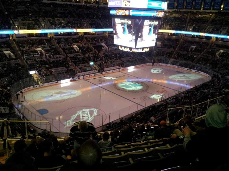 Seating view for SAP Center at San Jose Section 218 Row 11 Seat 16