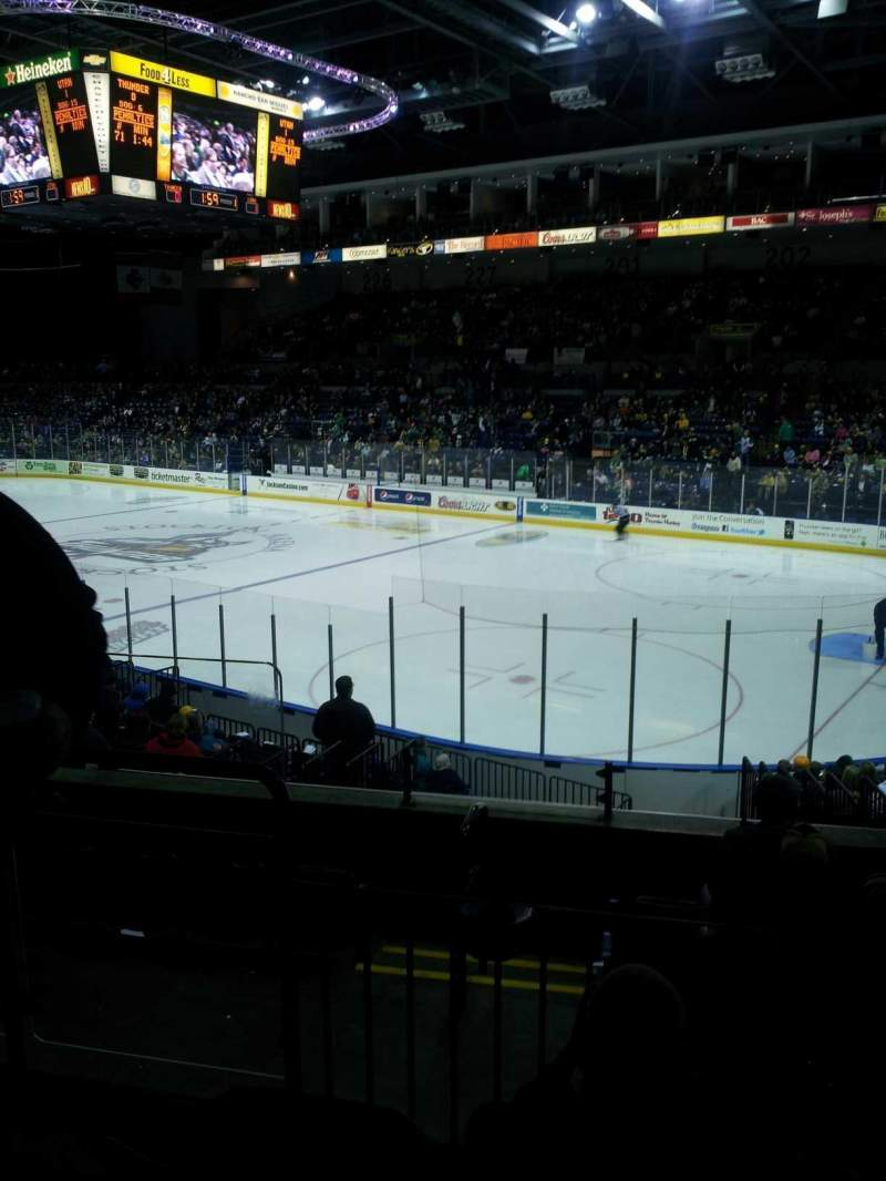 Seating view for Stockton Arena Section 212 Row 17 Seat 8
