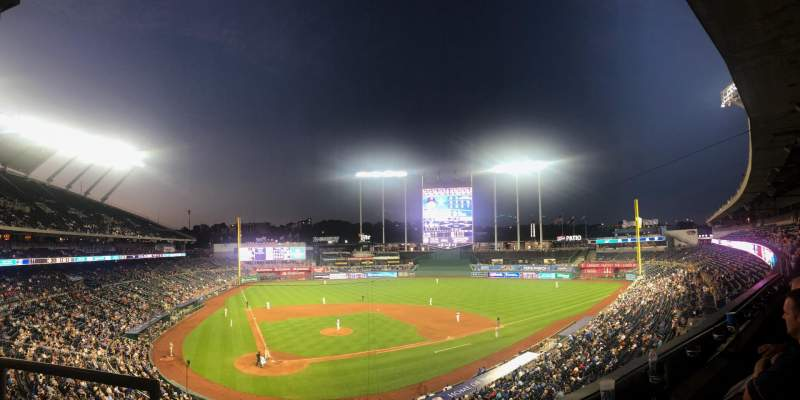 Seating view for Kauffman Stadium Section 312 Row B Seat 2