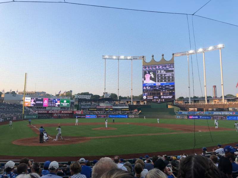 Seating view for Kauffman Stadium Section 130 Row J Seat 5