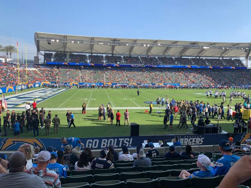 Seating View For Stubhub Center Section 114 Row M Seat 7