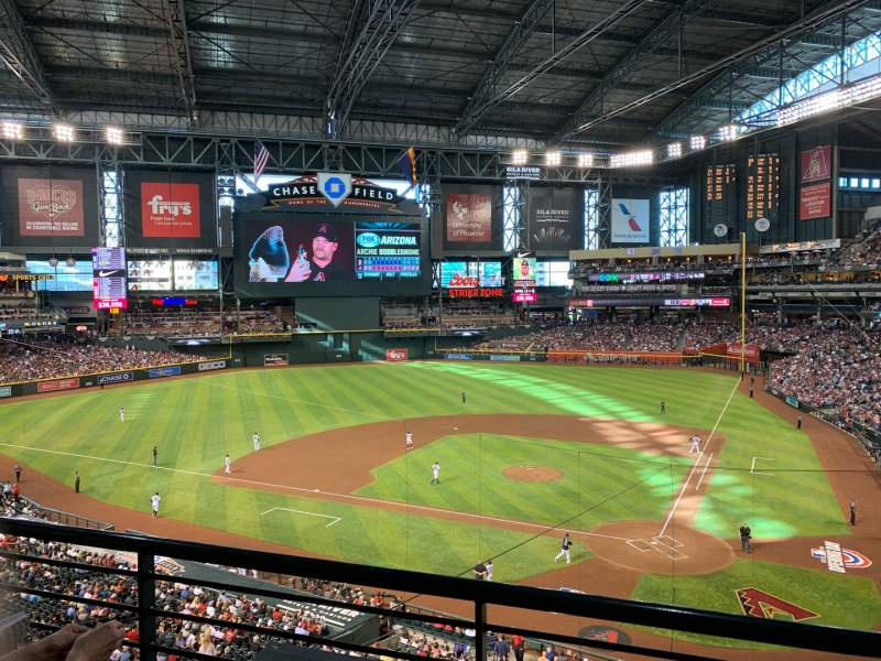 Seating view for Chase Field Section 210H Row 2 Seat 95