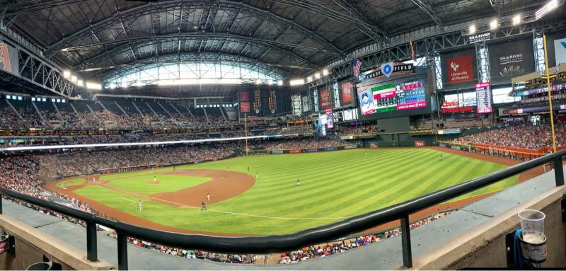 Seating view for Chase Field Section 204 Row 1 Seat 8