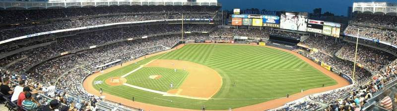 Seating view for Yankee Stadium Section 414 Row 1 Seat 20