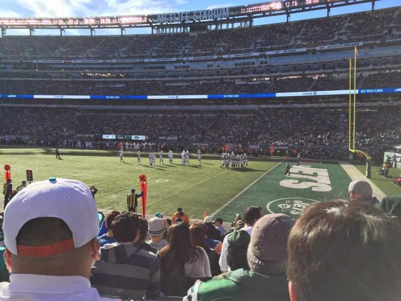 MetLife Stadium, section: 109, row: 11, seat: 2