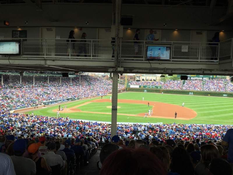 Seating view for Wrigley Field Section 225 Row 22 Seat 1