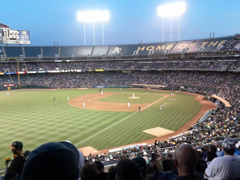 Seating view for Oakland Alameda Coliseum Section 130 Row 13 Seat 1