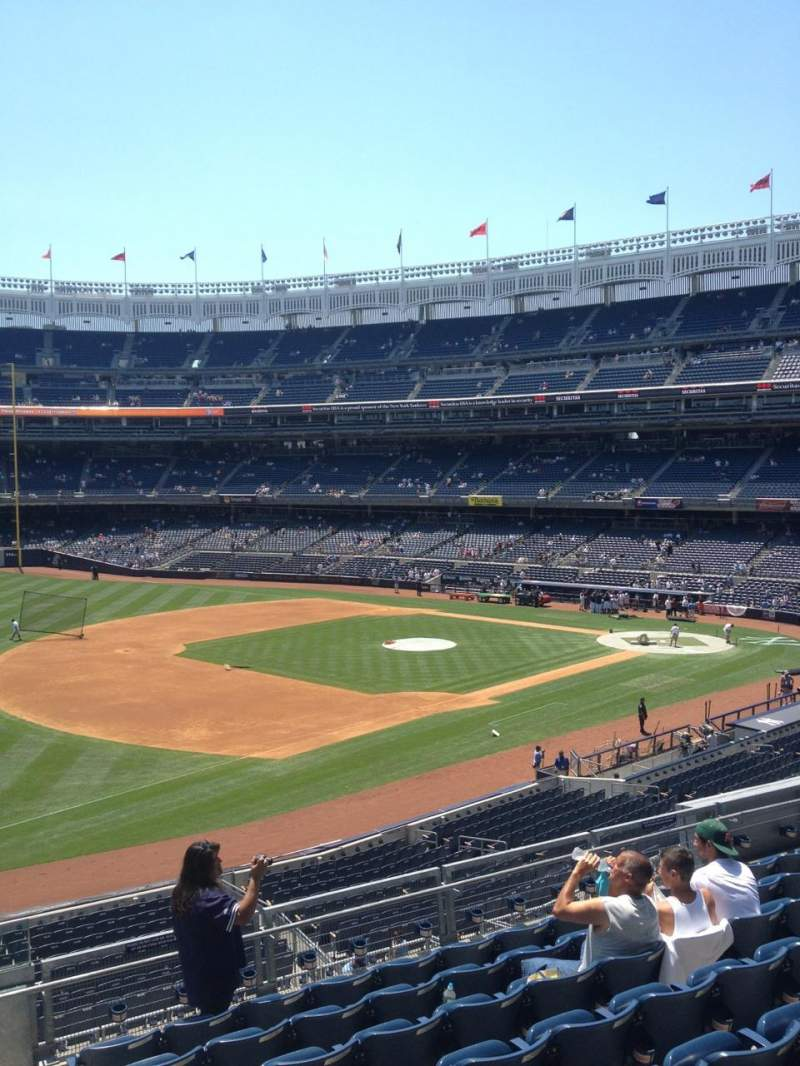 Seating view for Yankee Stadium Section 228 Row 9 Seat 1-4