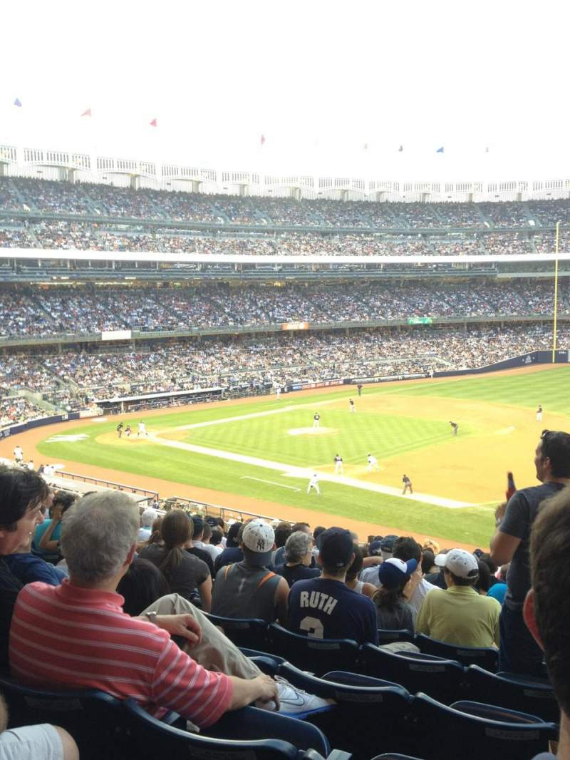 Seating view for Yankee Stadium Section 213 Row 15 Seat 1-4