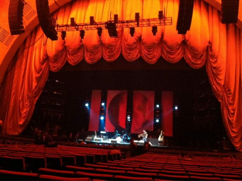 Seating view for Radio City Music Hall Section Orchestra 3 Row UU Seat 311-314