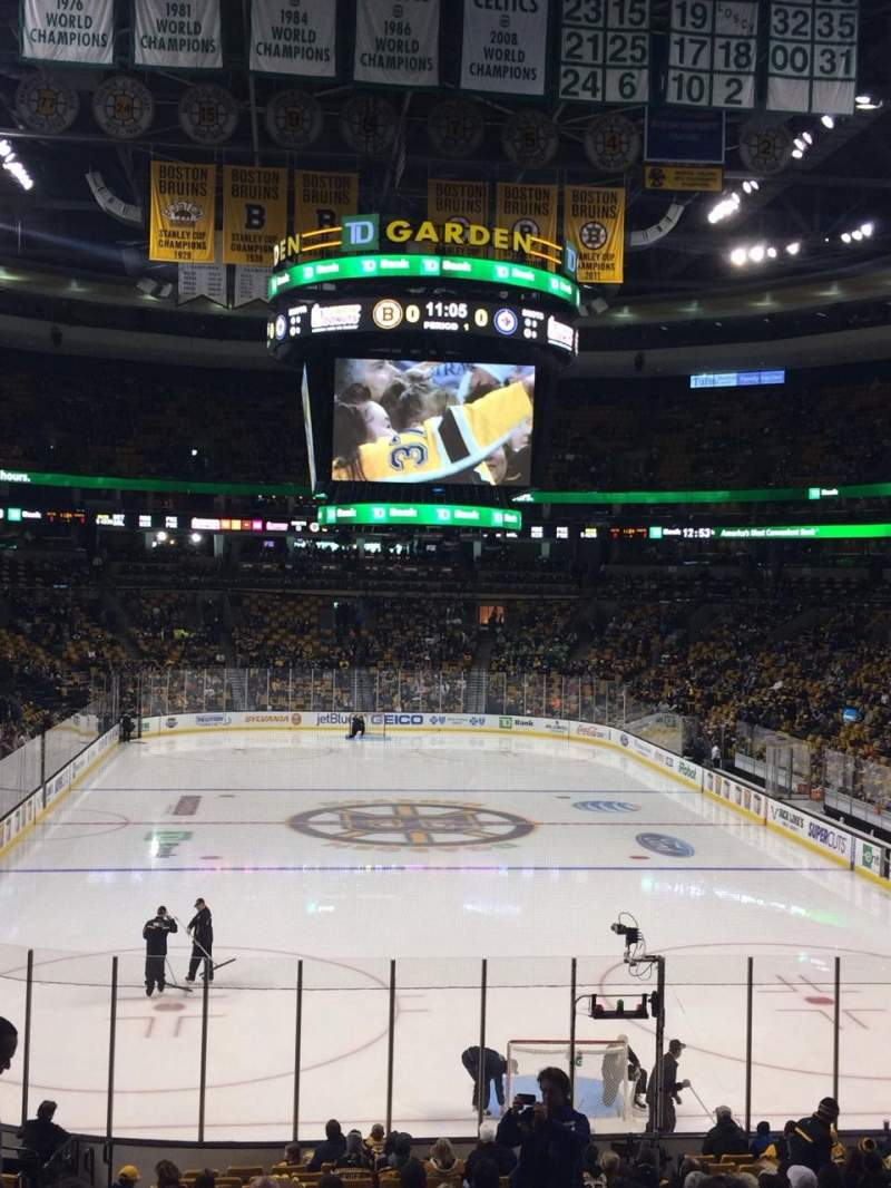 Seating view for TD Garden Section LOGE 7 Row 23 Seat 8-10