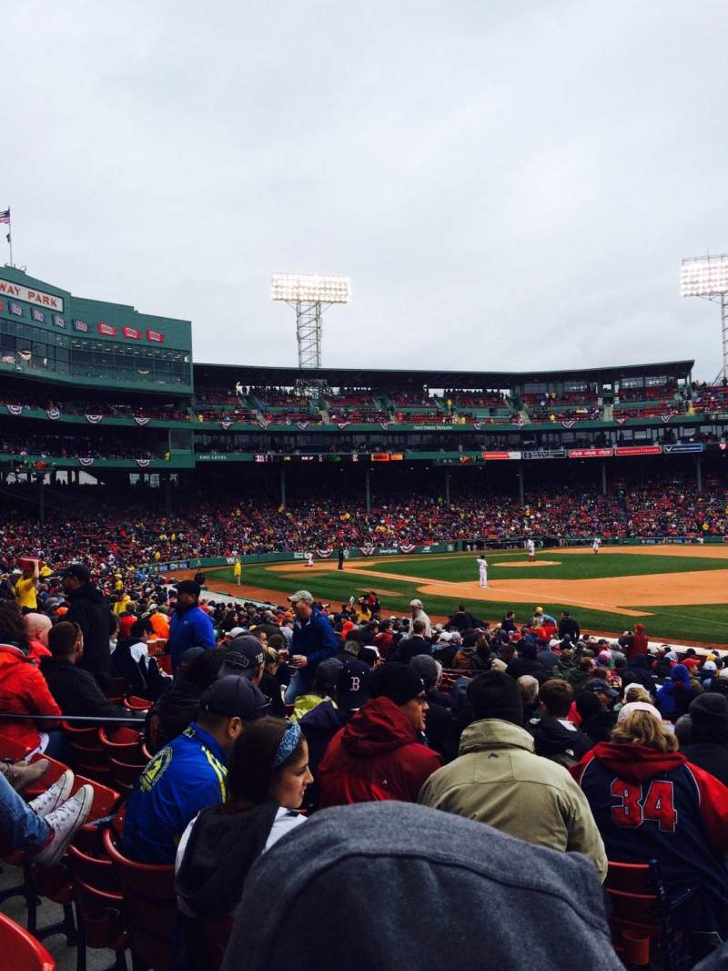 Seating view for Fenway Park Section Loge Box 98 Row KK Seat 7-8