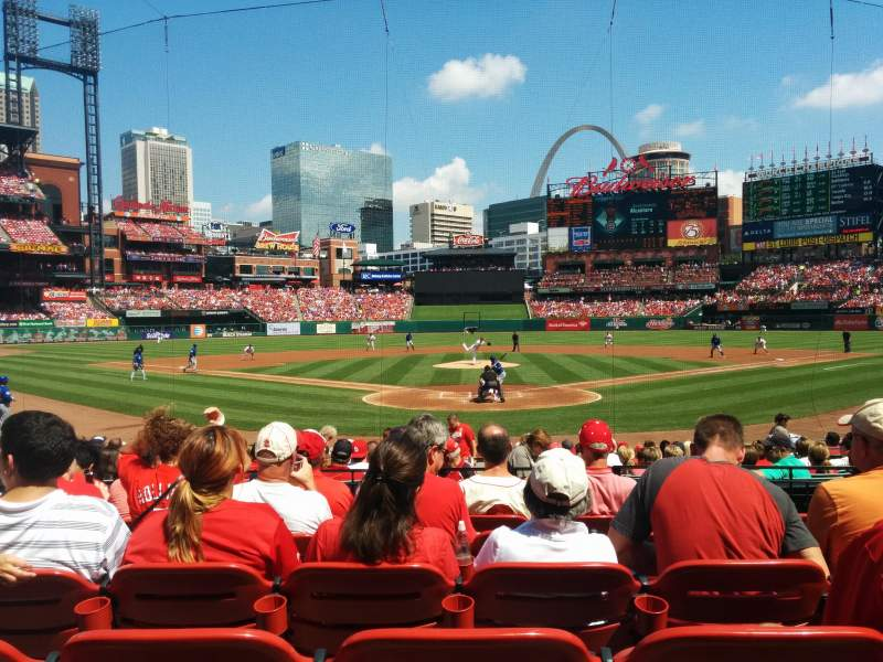 Seating view for Busch Stadium Section 150 Row 6 Seat 8