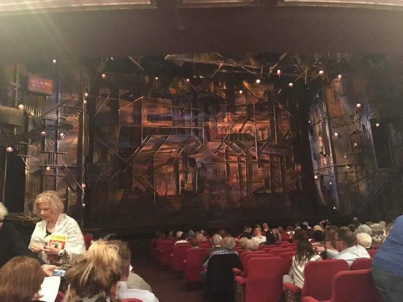 Seating view for Broadway Theatre - 53rd Street Section Orchestra L Row R Seat 2