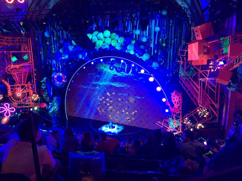 Seating view for Palace Theatre (Broadway) Section Rear Mezzanine Row J Seat 2