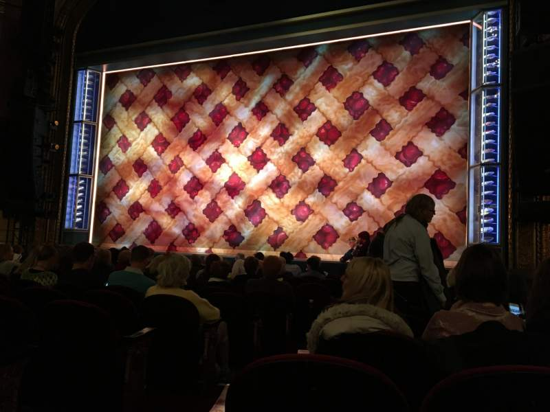 Seating view for Brooks Atkinson Theatre Section Orchestra R Row K Seat 4