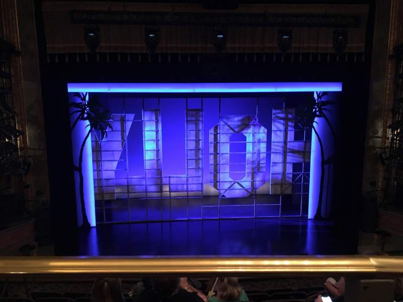 Seating view for Nederlander Theatre Section Mezzanine C Row G Seat 111