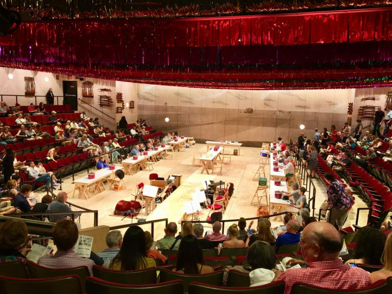 Seating view for Circle in the Square Theatre Section Orchestra 100 (Even) Row J Seat 110