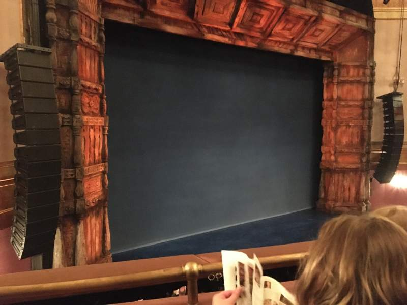 Seating view for St. James Theatre Section Mezzanine L Row B Seat 17