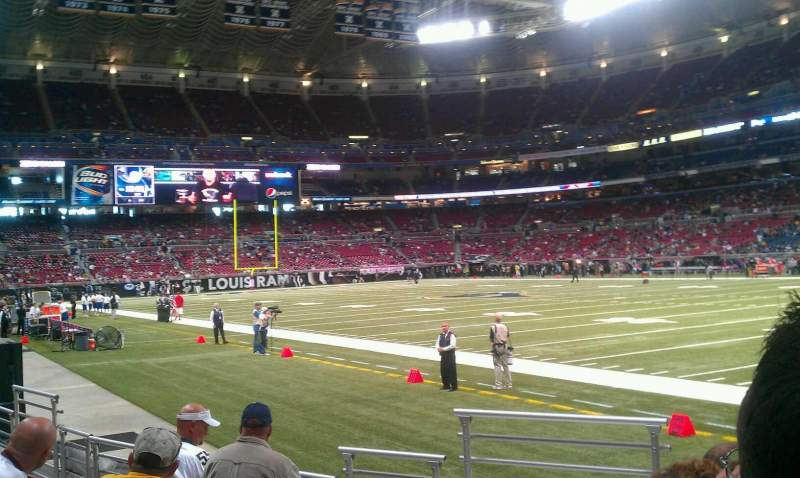Seating view for The Dome at America's Center Section 134 Row f Seat 10