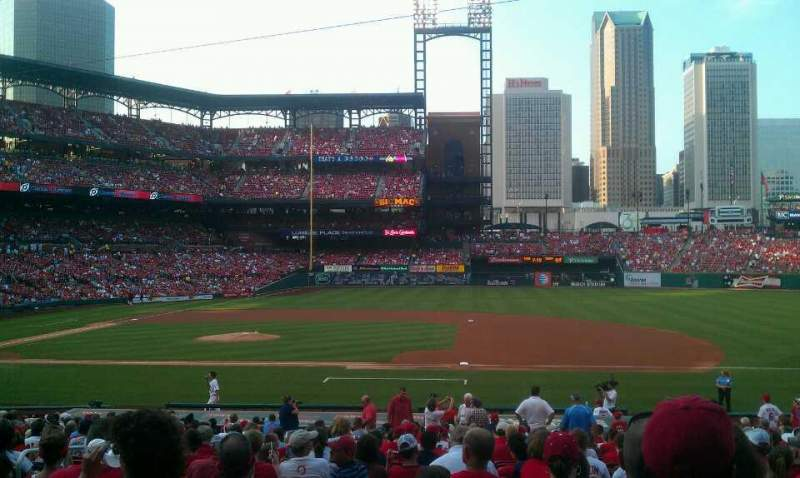 Seating view for Busch Stadium Section 141 Row 17 Seat 7
