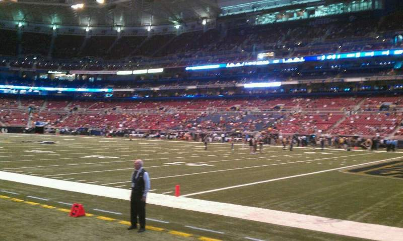 Seating view for The Dome at America's Center Section 134 Row c Seat 6