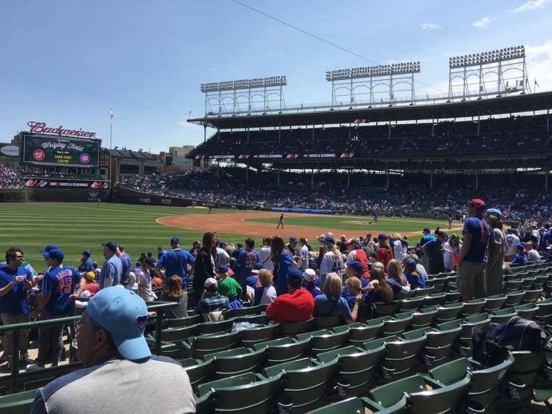 Seating view for Wrigley Field Section 106 Row 9 Seat 1,2