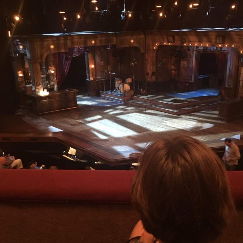 Seating view for Bernard B. Jacobs Theatre Section Mezzanine Row B Seat 105