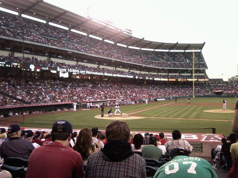 Seating view for Angel Stadium Section F124 Row g
