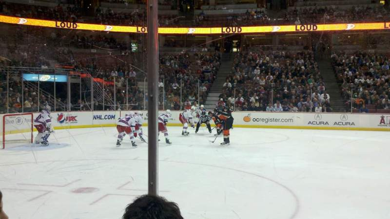 Seating view for Honda Center Section 210 Row C Seat 6