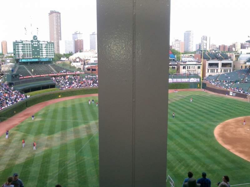 Seating view for Wrigley Field Section 505 Row 2 Seat 101