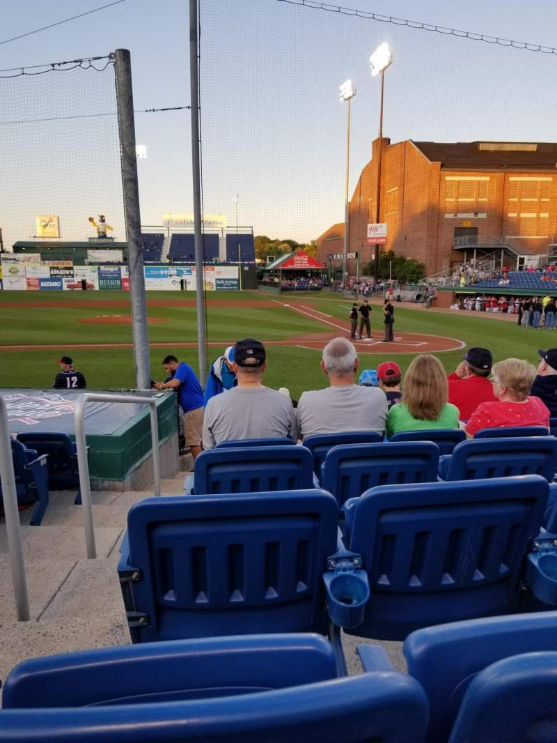 Seating view for Hadlock Field Section 109 Row M Seat 13