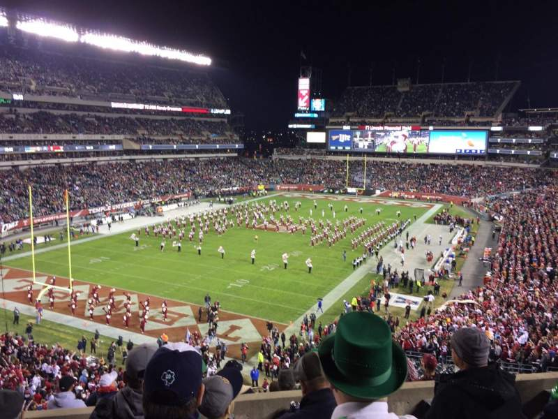 Seating view for Lincoln Financial Field Section M14 Row 9 Seat 9