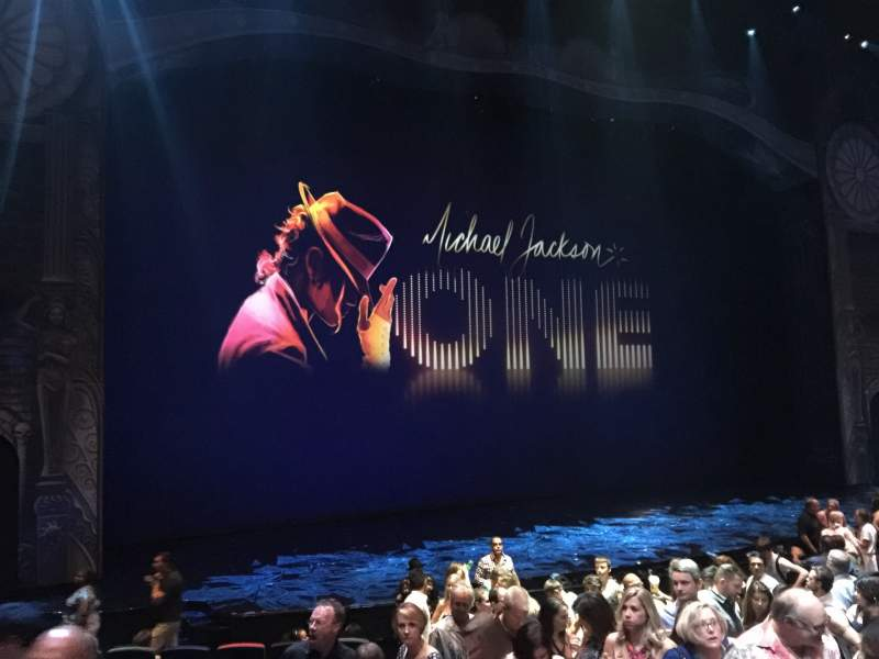 Seating view for Michael Jackson One Theatre Section 101 Row L Seat 7