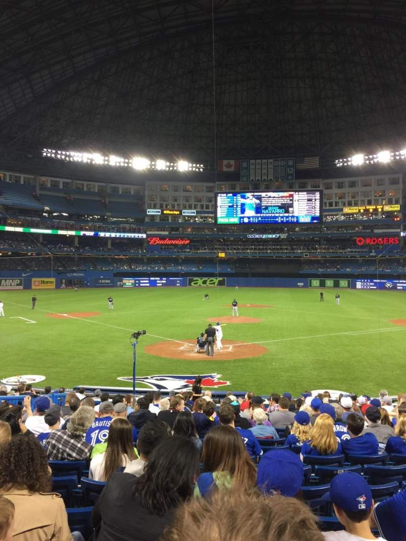 Seating view for Rogers Centre Section 121R Row 20 Seat 8
