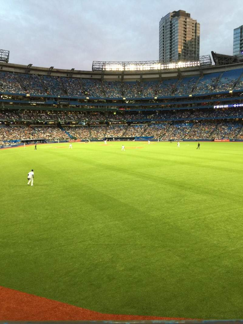 Seating view for Rogers Centre Section 104L Row 1 Seat 105